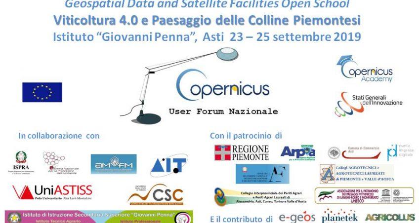 """Geospatial Data and Satellite Facilities Open School """"Viticoltura 4.0 e Paesaggio delle Colline Piemontesi"""""""